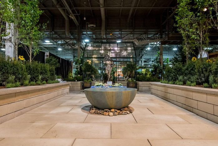 "Gilstorf & Gray of Bobcaygeon was one of the partners that assisted Modern Landscape Designers in staging the award-winning ""Midnight in Paris"" garden at Canada Blooms 2018. (Photo: Modern Landscape Designers)"