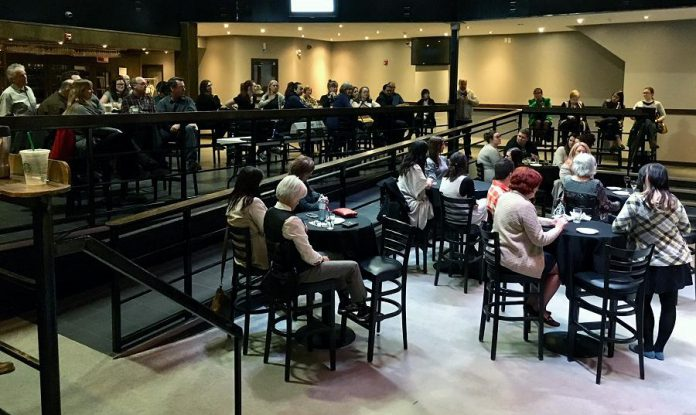 Around 90 people attended the event at The Venue in downtown Peterborough. (Photo: Tammy Thorne / kawarthaNOW.com)