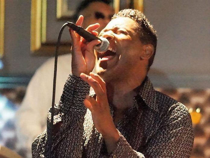 Singer Grady Harrell, who performs as Jackie Wilson at Bally's Casino in Las Vegas, will be joining Canadian vocal trio The Tonettes for 'Motown Soul', a tribute to classic soul and R&B music, at Showplace Performance Centre on Monday, March 26. (Photo: Jazz Up Photography)
