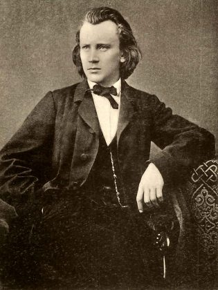 A portrait of German composer Johannes Brahms in 1865, the year he began work on 'A German Requiem'. (Public domain)
