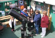 John Crossen explaining his telescope to a tour group at the Buckhorn Observatory, which he opened in 2002 and ran until 2014. John passed away at the age of 73 on March 22, 2018 after a long illness. (Photo: Crossen family)