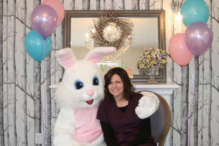 The Easter Bunny returns to Village Dental Centre in Lakefield on Easter Monday (April 2) for free photos, cookies, beverages, and a prize raffle. (Photo: Village Dental Centre)