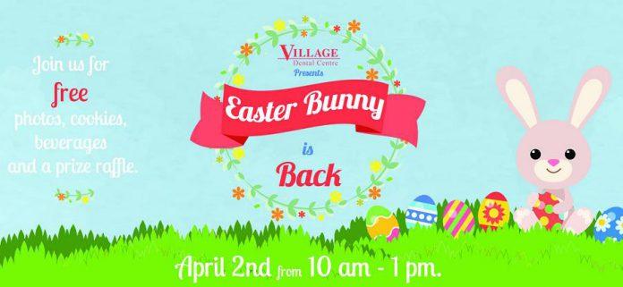 Easter Bunny at Village Dental Centre