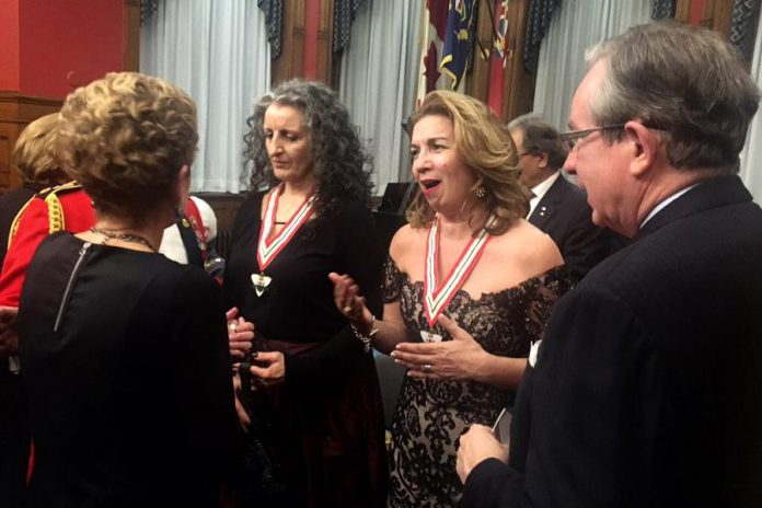 Soprano Leslie Fagan was appointed to the Order of Ontario earlier this year in recognition of her contributions as a singer, educator, and promoter of Canadian music. (Photo: MPP Jeff Leal / Twitter)