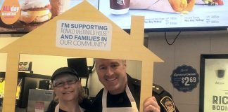 Kawartha Lakes Police Service Inspector Mark Mitchell volunteering in 2017. The 27-year veteran of the City of Kawartha Lakes Police Service will replace retiring Chief of Police John Hagarty in August 2018. (Photo: Mark Mitchell / Twitter)