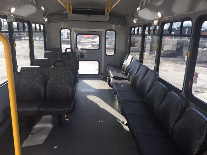 The Peterborough Community Bus has seats for up to 18 passengers and two spots for wheelchairs. (Photo: Peterborough Transit)