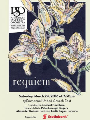 The PSO's March 24th Requiem concert at Emmanuel United Church East is sponsored by Scotiabank. Tickets are available from the Showplace box office.