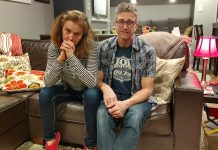 Real-life married couple Tamara Bick and Drew Antzis are developing a new version of their comedic and interactive 'Settle This Thing' relationship stage show at The Theatre on King in Peterborough over the next three months, in preparation for shows at the Montreal, Toronto, and Chicago Fringe Festivals this summer. (Photo: Sam Tweedle / kawarthaNOW.com)