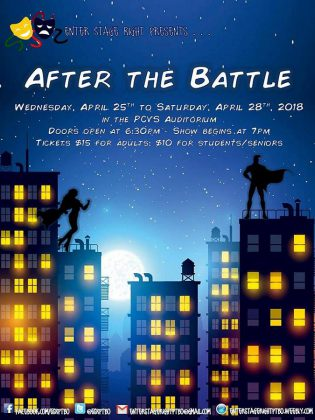 """After the Battle"" runs from April 25 to 28 at the PCVS Auditorium in Peterborough. (Poster: Enter Stage Right)"