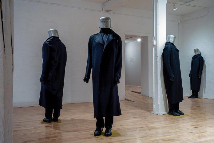 """Part of Anne O'Callaghan's exhibition """"Utopia! Who's Listening Now"""" at the Visual Arts Centre of Clarington. (Photo: Jean-Michel Komarnicki)"""