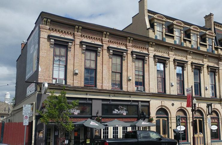 The Black Horse Pub at 452 George Street North in downtown Peterborough has been purchased by Desmond Vandenberg, who says he plans to keep it open as a pub, restaurant, and live music venue. (Photo: National Trust for Canada)