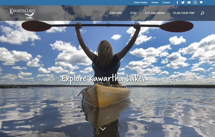 A screenshot of the award-winning Kawartha Lakes Tourism website.