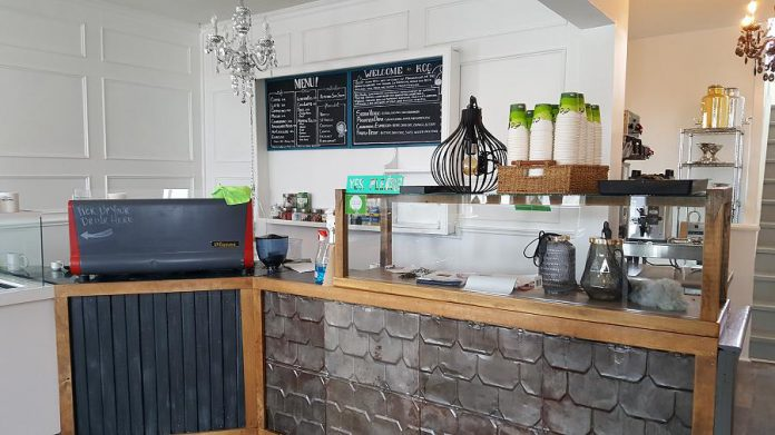 Inside the new Kawartha Coffee Co.  (Photo: Jeannine Taylor / kawarthaNOW.com)