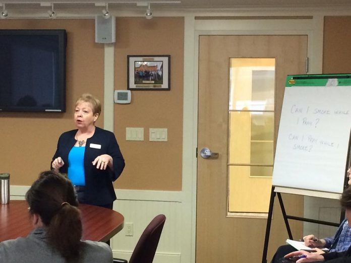 "Community Futures Peterborough Executive Director Gail Moorhouse during a recent session on  Eastern Ontario Development Program (EODP) funding. ""Our goal is to be a leader in the region by developing and supporting the growth and expansion of local business and employment opportunities"". (Photo courtesy of Community Futures Peterborough)"