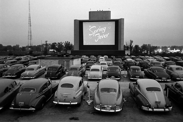 There are three drive-in theatres in the Kawarthas: the Port Hope Drive-In (which is already open on weekends), the Lindsay Drive-In (which opens for the season on April 27, 2018), and the Havelock Family Drive-In (which opens for the season on May 18, 2018). Pictured is a drive-in theatre in Chicago circa 1950, when the alternative to traditional movie theatres began to gain popularity.