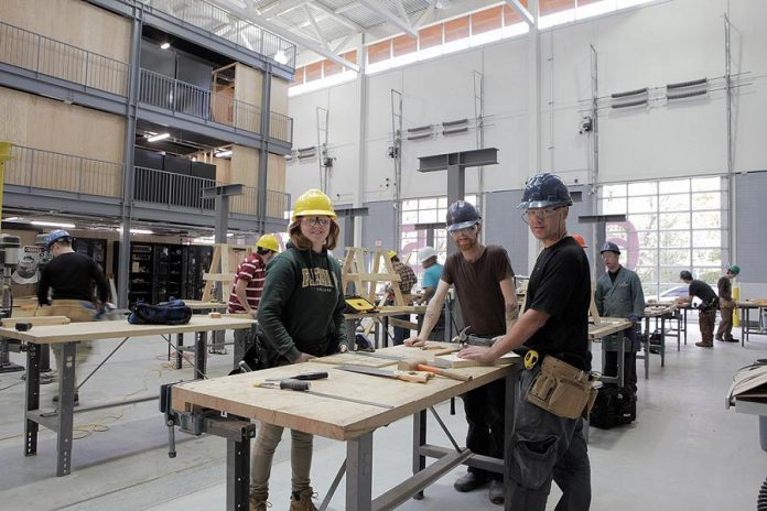 Students at work at The Kawartha Trades and Technology Centre (KTTC) at Fleming College. (Photo courtesy of Fleming College)
