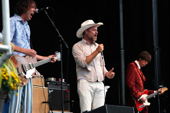 "Gord Downie performing with The Sadies in support of their 2014 musical collaboration ""Gord Downie, The Sadies, and the Conquering Sun"". (Photo: Kevin Lamb)"
