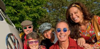 """A few of the members of the Peterborough Pop Ensemble getting in the spirit for """"Hip to the Groove"""", a tribute concert to the music of the 1960s and 1970s on April 28, 2018 at the Market Hall in downtown Peterborough. A portion of the proceeds from the concert will go to the Kawartha-Haliburton Children's Foundation. (Photo courtesy of Peterborough Pop Ensemble)"""