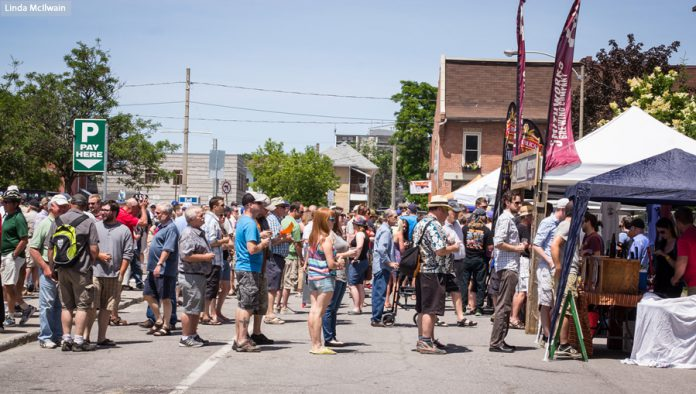 The inaugural Kawartha Craft Beer Festival in 2015. The fourth annual event returns to downtown Peterborough on June 8 and 9, 2018.  (Photo: Linda McIlwain / kawarthaNOW.com)