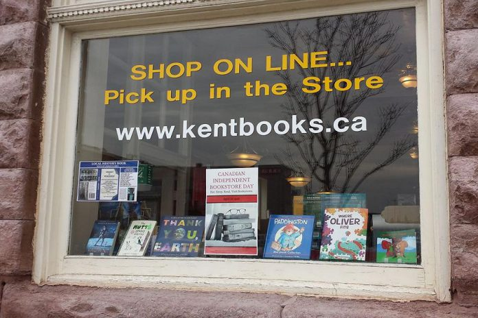 Kent Books in Lindsay is one of the independent bookstores in the Kawarthas celebrating Canadian Independent Bookstore Day on April 28, 2018 with local authors, contests, bargains, and more. (Photo: Kent Books / Facebook)