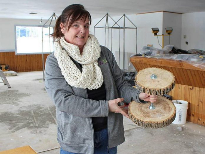 "Kelli Coon's new cafe, shown here undergoing renovations during the winter, will feature pastry platters gifted from a friend's wedding made with wood from Big Bald Lake. ""I want people to come in and feel like they've just come to a friend's house."" (Photo: Sofie Andreou)"