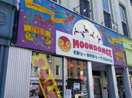 Record Store Day on April 21, 2018 celebrates independent record stores, and there's only one week left before Canada's oldest one, Moondance in downtown Peterborough, closes. Owner Mike Taveroff is offering 70 per cent off of most of the remaining stock. (Photo: Jeannine Taylor / kawarthaNOW.com)