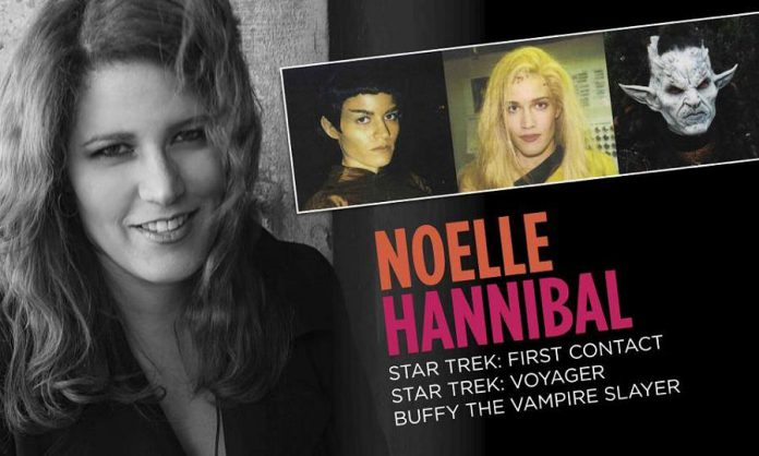 Noelle Hannibal is a Montreal-based actress who has appeared in a Star Trek film and TV series as well as Buffy The Vampire Slayer. She will be attending the Peterborough Comic Con on April 22, 2018. (Graphic: Noelle Hannibal / Facebook)