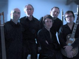 Pop Machine (Jean Greig, Cal Coons, Mike Pickett, Harley Payne, and Dave McLeod) is one of 15 local bands performing at Peterborough Musicians Appreciation Day on Sunday, April 22 at the Black Horse Pub in downtown Peterborough. Proceeds from the event will go to support local musicians in need. (Photo: Pop Machine)