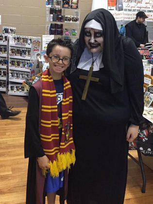 Harry Potter meets The Nun: cosplayers at last year's Peterborough Comic Con. (Photo: Amy Van Purr)