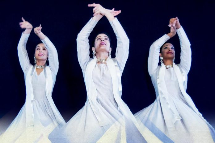 "Public Energy presents the world premiere of ""Snowangels"" by choreographer Deepti Gupta, which will be performed by four dancers from her company Arzoo Dance Theatre on April 6 and 7 at Peterborough's Market Hall, along with ""The Lion's Roar"", a solo dance performance by Gupta. (Supplied photo)"