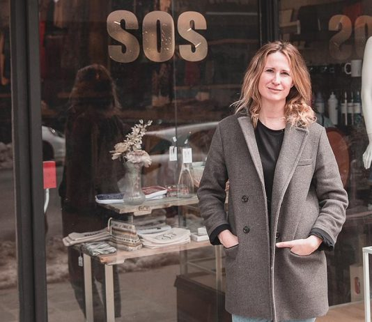 Shelby Leonard-Watt outside her new S.0.S. store at 384 George Street in downtown Peterborough. Leonard-Watt has moved and expanded her previous retail store, Save Our Souls at 388 George Street, to sell women's clothing and accessories as well as women's shoes. (Photo: Bryan Reid)
