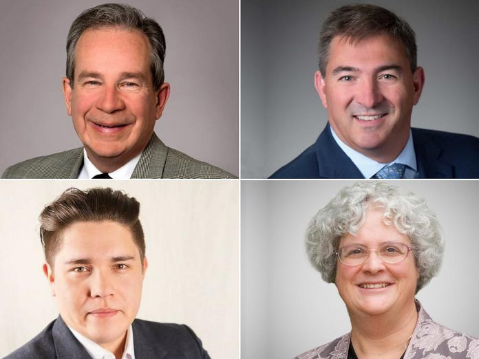 Liberal incumbent Jeff Leal, PC candidate Dave Smith, NDP candidate Sean Conway, and Green candidate Gianne Broughton are among those vying to become Peterborough-Kawartha's next Member of Provincial Parliament.