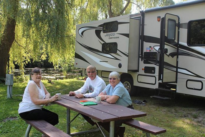 Beavermead Campground in Peterborough offers 95 camp sites, most with hydro and water hook-up. (Photo courtesy of Otonabee Conservation)