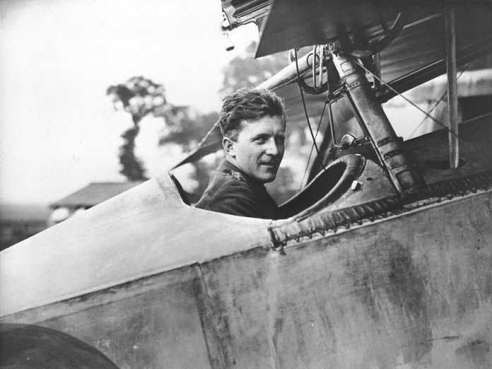 "The musical play ""Billy Bishop Goes to War"" dramatizes the life of First World War Canadian flying ace William ""Billy"" Bishop, pictured here in 1917 in the cockpit of his Nieuport Scout while he was with No. 60 Squadron of the Royal Flying Corps. (Photo: DND Archives, AH-407A)"