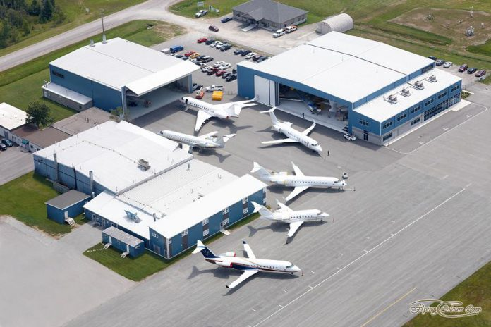 Flying Colours Corp. is investing $30 million in its facility at the Peterborough Airport, includes construction of a new manufacturing and operations hangar. (Graphic: Flying Colours Corp.)