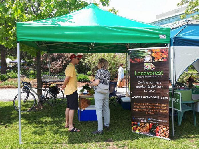 Online farmers' market Locavorest, shown here at the Dandelion Day festival at Millennium Park on May 27, 2018, is now offering home delivery. (Photo:  Locavorest / Facebook)