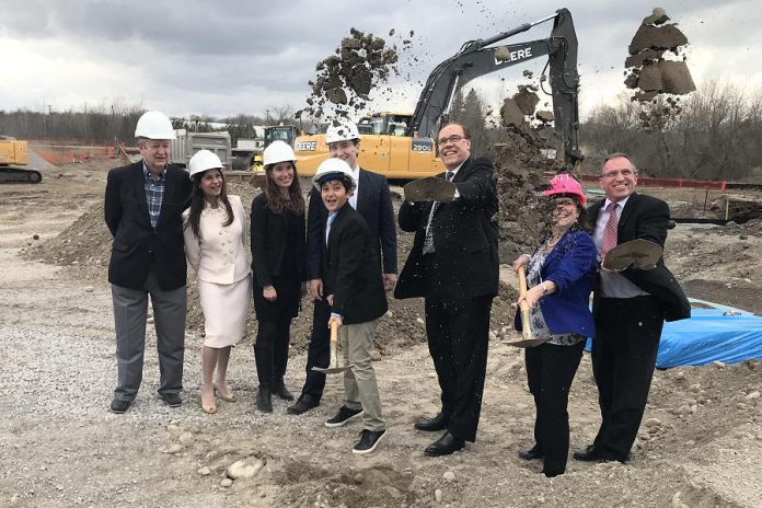Peterborough Mayor Daryl Bennett participated in the official groundbreaking ceremony of the new Hampton Inn and Suites six-storey hotel to be built beside Shorelines Casino Peterborough. (Photo courtesy of the office of Mayor Bennett)