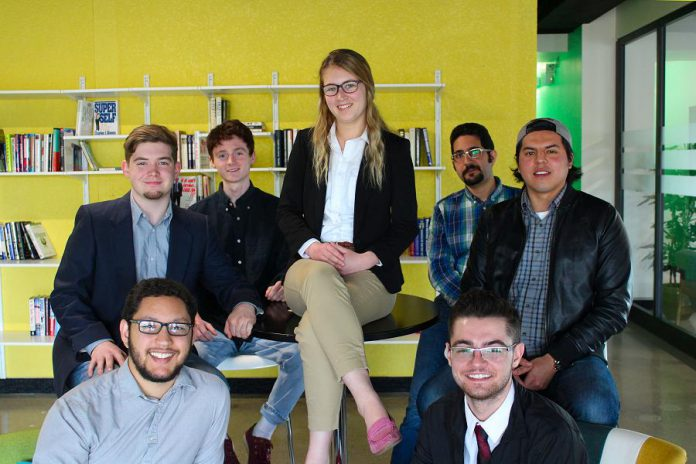 These seven youth entrepreneurs were selected for the Innovation Cluster's second annual Slingshot Program. (Photo courtesy of the Innovation Cluster)