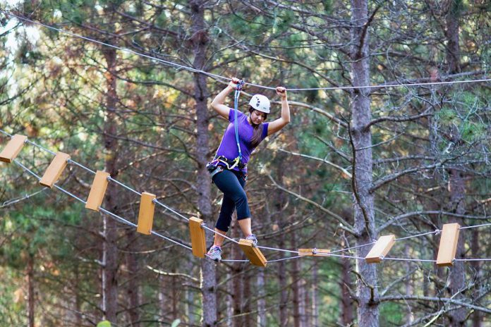 "Ganaraska Treetop Treeking in Campbellcroft is a finalist in the 2018 Ontario's Choice Awards ""Top Outdoor Attraction"" category.  (Photo: Treetop Trekking Ganaraska)"