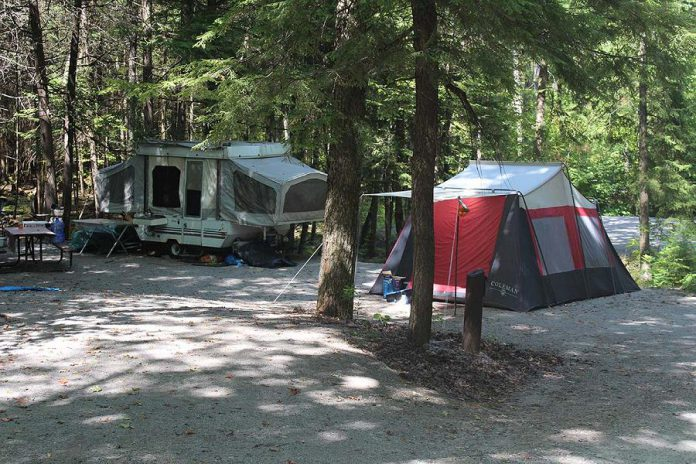 The Warsaw Caves campground is nestled in the Indian River valley. (Photo courtesy of Otonabee Conservation)