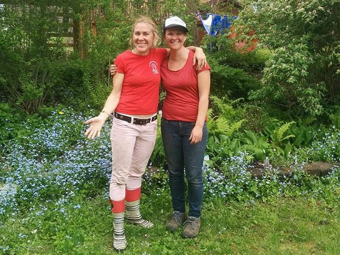 Carlotta James and Megan Boyles of Three Sisters Natural Landscapes, a social enterprise in Peterborough that provides eco-landscaping solutions. (Photo: Three Sisters / Facebook)