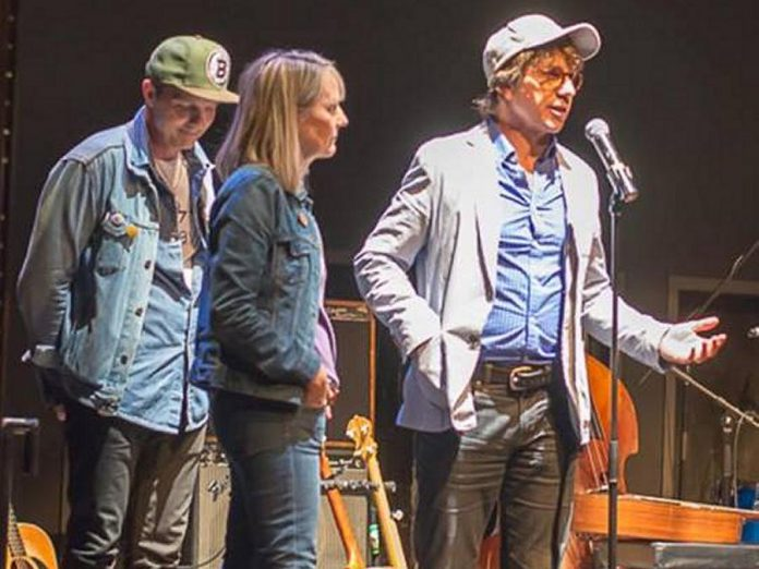 Gord Downie's siblings Patrick, Paula, and Mike attended the Gord Downie & Chanie Wenjack Fund Benefit Concert on May 11, 2018, which raised $10,000 for the fund supporting awareness, education, and acts of reconciliation between Indigenous and non-Indigenous people. (Photo: Journey Magazine Ptbo)
