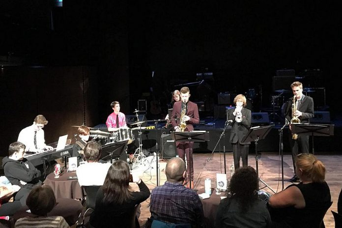 The Thomas A. Stewart Jazz Combo Band performing at the Gord Downie & Chanie Wenjack Fund Benefit Concert on May 11, 2018. (Photo: Vincent Abrahamse)