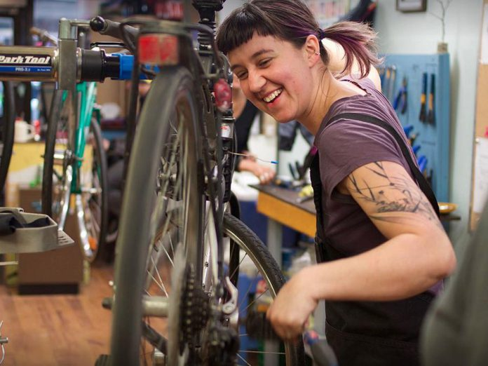 Join GreenUP and B!KE for Bike Nights, every Thursday starting in May. Topics include bike mechanics, family fun, skills and rides, and movies. (Photo courtesy of B!KE)