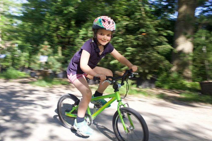 Kids on Bikes is a free fun event for families. Grab your bikes and join us at Millennium Park for bike decorating, skills prating, bike games, and the bike playground. (Photo courtesy of GreenUP)
