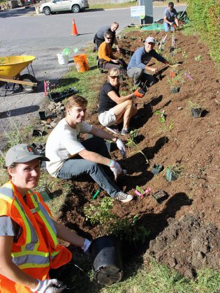 Last year, the GreenUP Ready for Rain Peterborough program worked with residents to build eight rain gardens in The Avenues Neighbourhood. Take a tour on May 25th and learn about how to integrate green infrastructure in your yard.  (Photo courtesy of GreenUP)