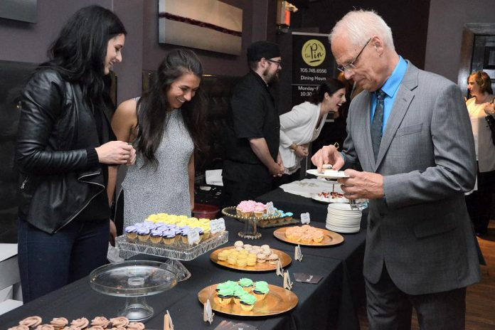Guests at the 2017 Business Hall of Fame & Induction Ceremony enjoying a selection of desserts. This year's Culinary Showcase features food from Curry Village, BE Catering, The Imperial Tandoor, Fresh Dreams, La Mesita Restaurante, The Pin, Little Sweets, and Sweet Spirits and beverages from Amuse Coffee Co. and Publican House Brewery. (Photo: Niki Allday Photography)