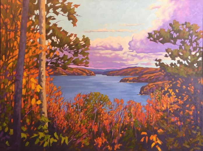 A painting by artist John Lennard on display at the Gallery On The Lake in Buckhorn. (Photo courtesy of  Gallery On The Lake)
