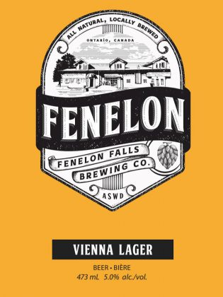 One of the Fenelon Falls Brewing Co.'s flagship beers, the Vienna Lager. Agatha and Vinh are planning to offer easy drinking but distinctive beers. (Photo courtesy of Fenelon Falls Brewing Co.)