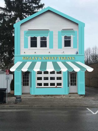 A designer's rendering of Bigley's Sweet Treats, a new modern ice cream shop opening in Bobcaygeon this spring. (Graphic:  Bigley's Sweet Treats)
